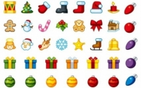 Free vector Vector icon  Christmas Holiday Icons