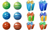 Free vector Vector icon  CHRISTMAS ORNAMENT AND GIFT ICONS