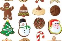 Free vector Vector Christmas  christmas ornaments biscuits vector