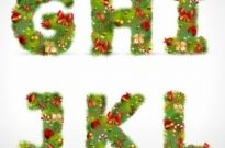 Free vector Vector Christmas  christmas ornaments composed of letters 02 vector