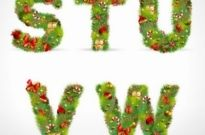 Free vector Vector Christmas  christmas ornaments composed of letters 04 vector