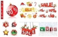 Free vector Vector Christmas  christmas sales discount decorative elements vector