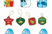 Free vector Vector Christmas  Christmas Tags Vector Set