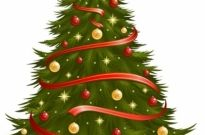 Christmas tree 05 vector Free vector 567.45KB