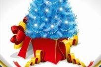 Free vector Vector Christmas  Christmas Tree and Gifts Vector