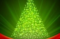 Free vector Vector background  Christmas Tree from Light Vector Background
