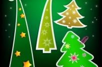 Christmas tree tags 03 vector Free vector 2.63MB