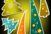 Christmas tree tags 04 vector Free vector 6.63MB