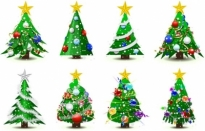 Christmas tree vector Free vector 6.31MB
