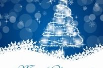 Free vector Vector Christmas  Christmas Tree with Star and Decoration in Blue