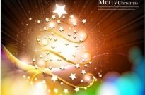 Christmas tree with star vector fantasy background Free vector 5.86MB