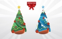 Free vector Vector Christmas  Christmas trees vector