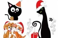 Free vector Vector Christmas  christmas vector cute cats and dogs