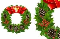 Christmas wreath cool texture vector Free vector 2.20MB