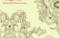 Free vector Vector background  Classic Retro Floral Background Vector