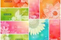 Free vector Vector background  color soft floral background vector 1 8p