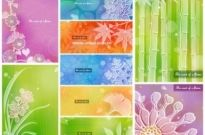 Free vector Vector background  color soft floral background vector 3 9p