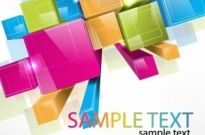 Free vector Vector background  Colorful 3D Cubes Vector Background