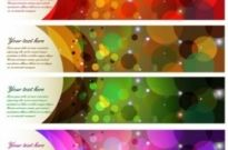 Free vector Vector banner  Colorful Abstract Banner