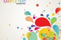 Free vector Vector abstract  Colorful Abstract Splash Design Vector