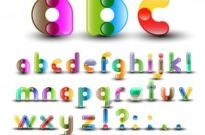 Free vector Vector misc  Colorful Alphabet with Numbers