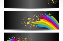 Free vector Vector background  Colorful Banners with Black Background