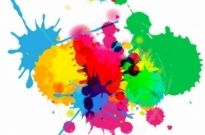 Free vector Vector background  Colorful Bright Ink Splashes on White Background