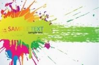Free vector Vector background  Colorful Bright Ink Splashes Vector Background