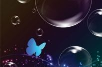 Free vector Vector background  colorful bubble background 05 vector