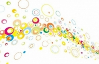 Free vector Vector background  Colorful Circles Vector Background