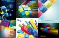 Free vector Vector background  Colorful Cube Vector Background