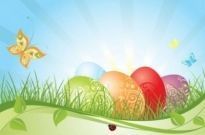 Free vector Vector background  colorful easter background 02 vector