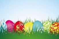 Free vector Vector background  colorful easter background 04 vector