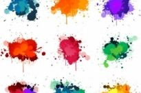 Free vector Vector misc  Colorful Ink Splashes Vector
