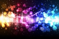 Free vector Vector background  Colorful lighting background