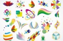 Colorful Logo Design Elements Vector Set Free vector 2.82MB