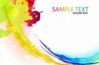 Free vector Vector background  Colorful Paint Ink Splashes Vector Background