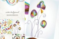 Colorful vector background Free vector 9.63MB