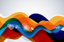 Free vector Vector background  Colorful Wave Abstract Background