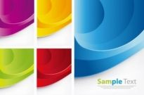 Free vector Vector background  Colorful Waves Vector Background Set