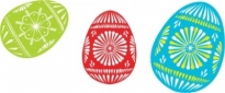 Free vector Vector clip art  Colour Easter Eggs clip art