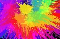 Free vector Vector misc  Colourful Bright Ink Splat Design Vector