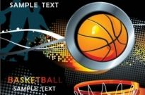 Free vector Vector background  Cool basketball element vector background