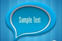 Free vector Vector background  Creative dialog blue background