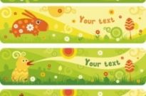 Free vector Vector banner  cute cartoon banner02vector