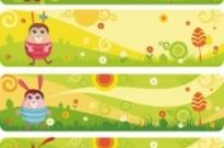 Free vector Vector banner  cute cartoon banner03vector