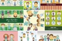Free vector Vector cartoon  cute cartoon children39s illustrator 04 vector