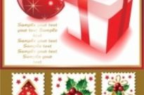 Free vector Vector Christmas  cute christmas stamps vector
