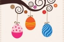 Free vector Vector background  Cute Easter Card Vector Graphic