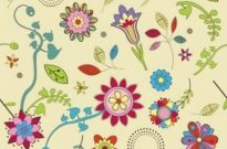 Free vector Vector pattern  Cute Flowers Wallpaper Pattern